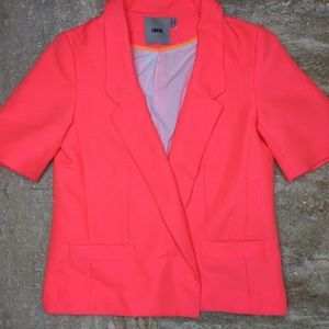 SZ 4 Hot Pink ASOS Short Sleeve Blazer
